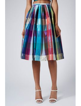 **limited-edition-taffeta-picnic-midi-skirt by topshop