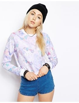 asos-cropped-sweatshirt-with-my-little-pony-print by asos-collection