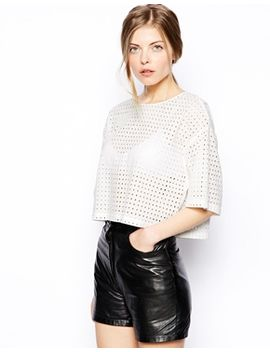 asos-t-shirt-with-broiderie-cutwork by asos-collection