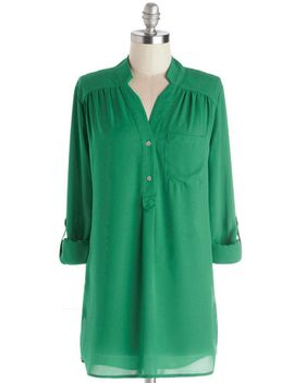 pam-breeze-ly-long-sleeve-tunic-in-greenpam-breeze-ly-long-sleeve-tunic-in-green by modcloth