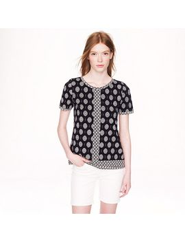 mixed-prints-t-shirt by jcrew