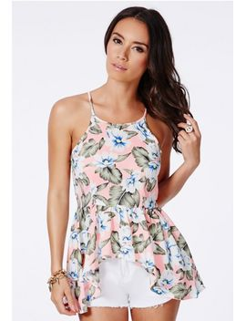 lile-tropical-print-peplum-cami-top by missguided