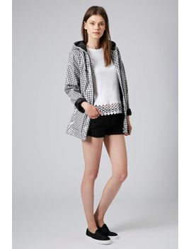 monochrome-gingham-plastic-mac by topshop