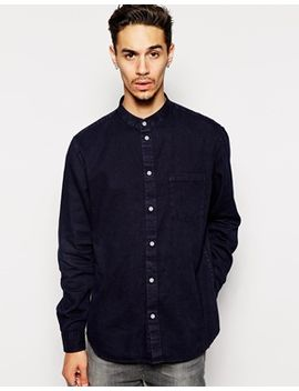 collarless-shirt by cheap-monday