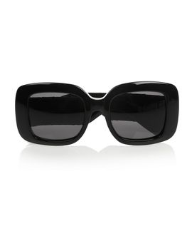square-frame-acetate-and-intrecciato-leather-sunglasses by bottega-veneta