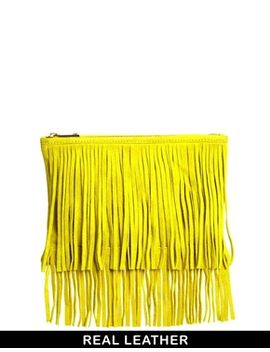 asos-suede-fringe-clutch-bag by asos-collection