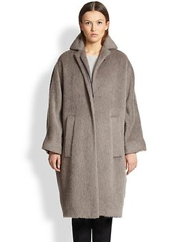 slouchy-brushed-wool-coat by burberry