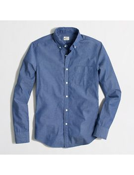 factory-slim-sunwashed-oxford-shirt by jcrew