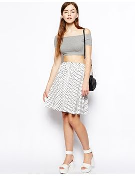 asos-midi-skirt-in-polka-dot by asos-collection