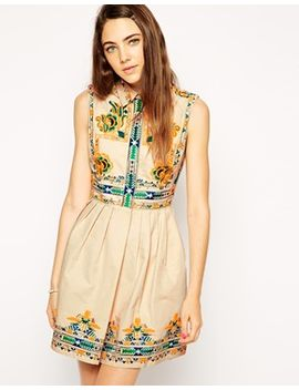 asos-skater-dress-with-embroidery by asos-collection