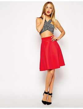 asos-knee-length-skirt-in-scuba by asos-collection