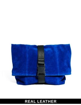 asos-leather-oversized-soft-clutch-bag-with-seat-belt-fastening by asos-collection