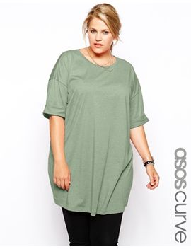 asos-curve-oversized-t-shirt by asos-curve