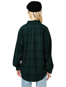 after-party-vintage-tried-and-true-flannel---forest-green by nasty-gal