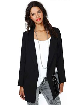 stratospheric-blazer---black by nasty-gal