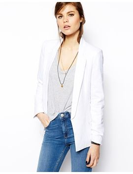 asos-linen-longline-blazer by asos-collection