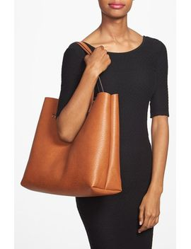 reversible-faux-leather-tote-&-wristlet by street-level