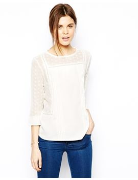 asos-top-with-broderie-panels-and-crochet-insert by asos-collection