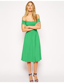 asos-midi-bardot-skater-dress by asos-collection