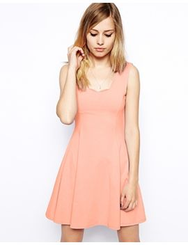 asos-skater-dress-with-scallop-edge by asos-collection