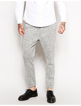 asos-skinny-fit-smart-cuffed-joggers-in-wool-mix by asos