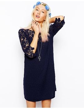 asos-crochet-tunic-dress by asos-collection