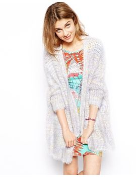 asos-kimono-cardigan-in-fluffy-knit by asos-collection