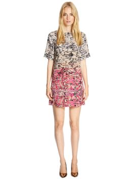 border-texture-print-shift-dress by warehouse