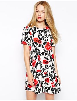 girls-on-film-floral-dress-with-peplum-hem by girls-on-film