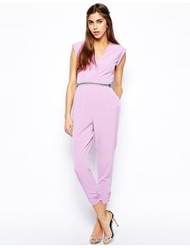 river-island-wrap-front-jumpsuit by river-island