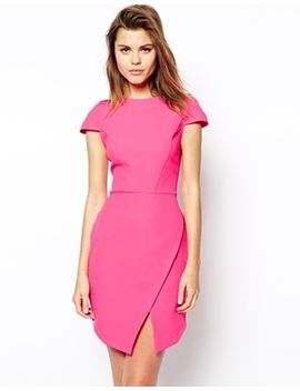 asos-shift-dress-in-bonded-crepe-with-asymmetric-hem by asos-collection