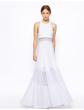 asos-full-maxi-dress-with-sheer-and-solid-panels by asos-collection