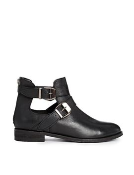 asos-along-side-me-leather-ankle-boots by asos-collection