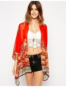 asos-kimono-in-floral-placement-print by asos-collection