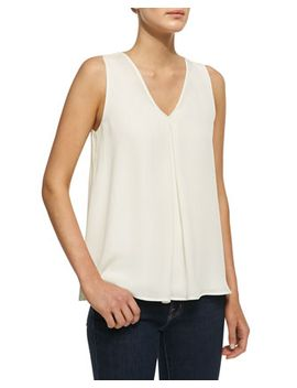 lesay-double-georgette-sleeveless-tank by theory