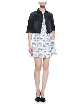 joey-cropped-jacket-&-dinda-knit-dress by theyskens-theory