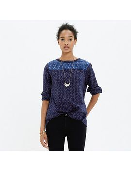 indigo-calico-top by madewell
