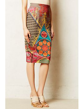 rambutan-pencil-skirt by pankaj-&-nidhi