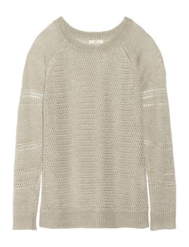 the-outnetronni-open-knit-linen-sweater by joie