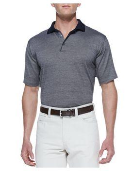 birdseye-knit-polo-shirt,-khaki_navy by ermenegildo-zegna