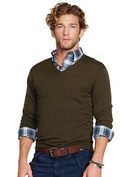 slim-fit-merino-wool-v-neck by ralph-lauren