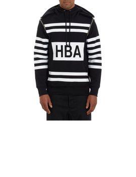 stripe-print-zip-off-sleeve-hoody by hood-by-air