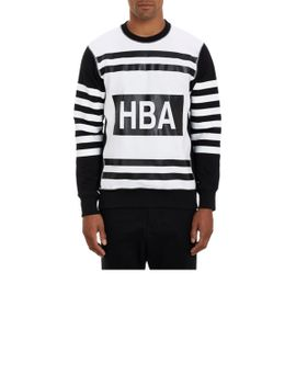 graphic-stripe-sweatshirt by hood-by-air