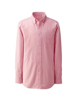 men-oxford-long-sleeve-shirt by uniqlo