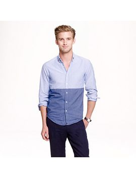 slim-vintage-oxford-shirt-in-colorblock by jcrew