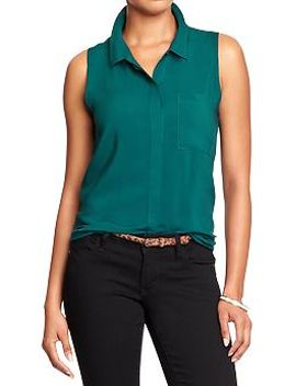 womens-sleeveless-shirts by old-navy