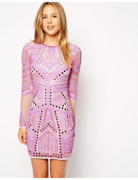 asos-embellished-mirror-bodycon-dress by asos-collection