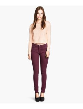 slim-fit-pants-high-waist by h&m