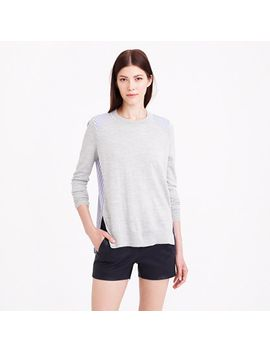 mixed-media-sweater-in-heather-dusk by jcrew