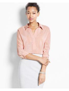 3_4-sleeve-silk-tunic by ann-taylor
